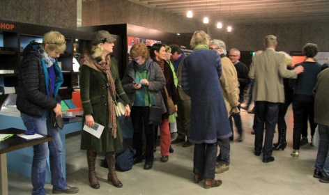 A queue formed for buying the artworks