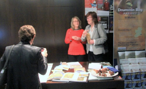 Committee members and scientists Lisa Dowling and Brigid O'Regan manning the information table
