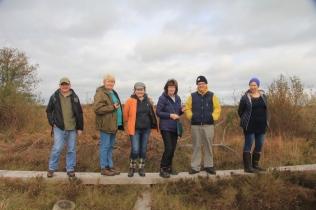 Drummin bog committee at Girley bog
