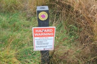A hazard sign
