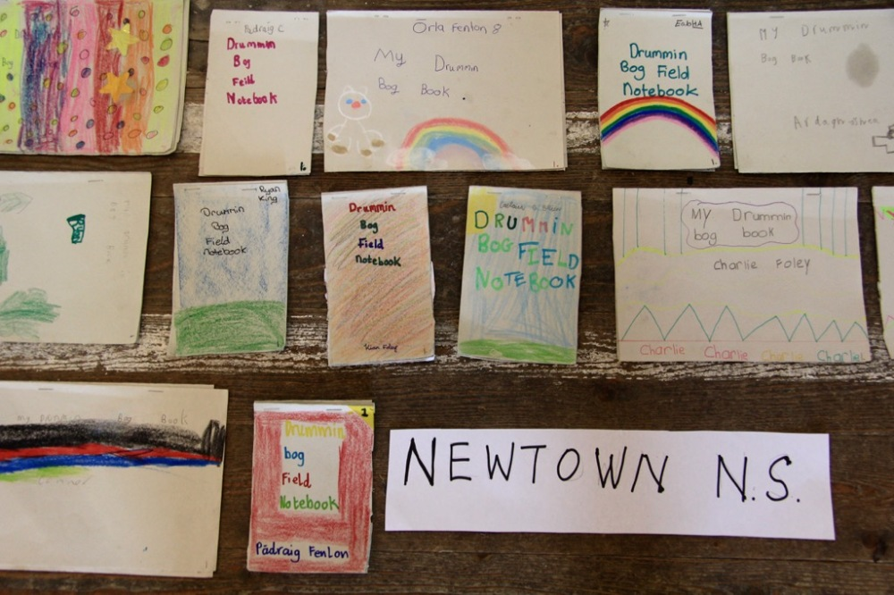 Some of the Children's notebooks on display